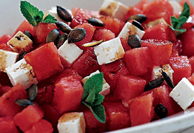 billede af melonsalat