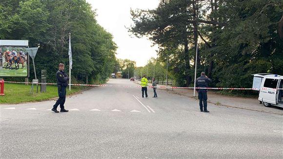 Politi ved travbanen i Aarhus