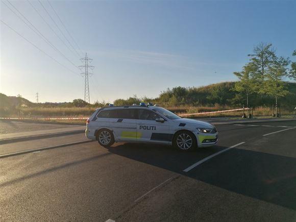 politibil og afspærring