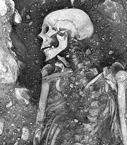 Skelet i jorden