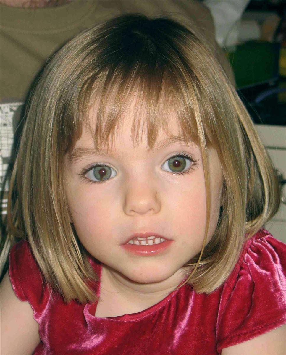 Portrætfoto af den forsvundne engelske pige Madeleine McCann