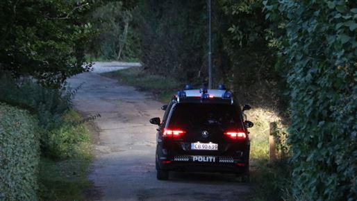 politibil på eftersøgning