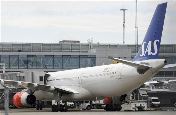 Et SAS fly parkeret i Arlanda