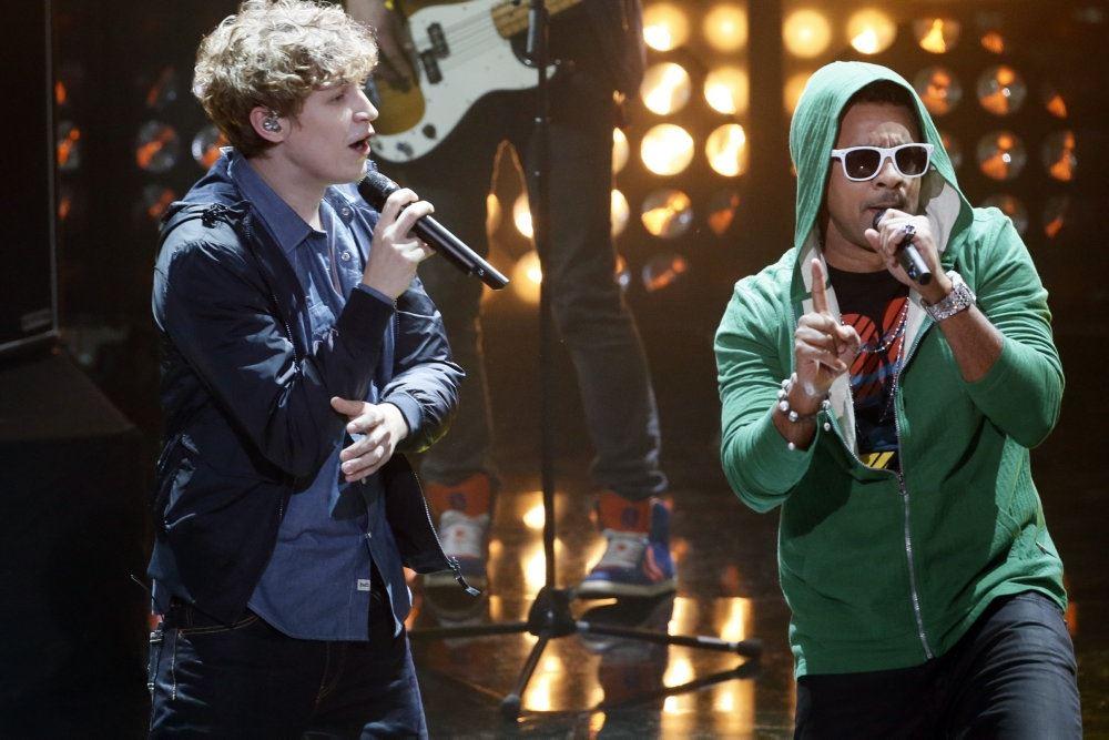Singer-songwriteren Tim Bendzko og reggae-sangeren Shaggy