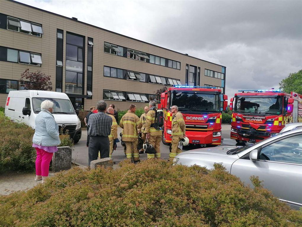 brand i en lejlighed i Viby J