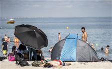 folk på stranden
