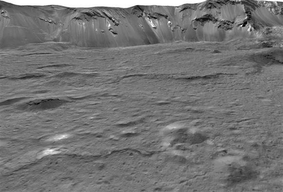 Occator-krater på dværgplaneten Ceres