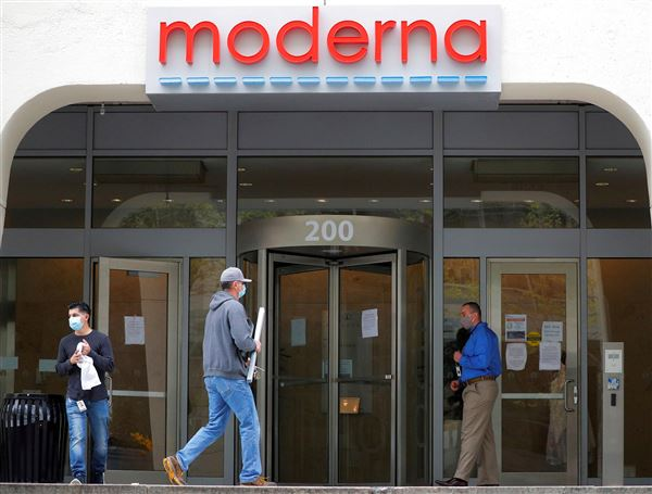 Indgangsparti til det amerikanske medicinalfirma Moderna