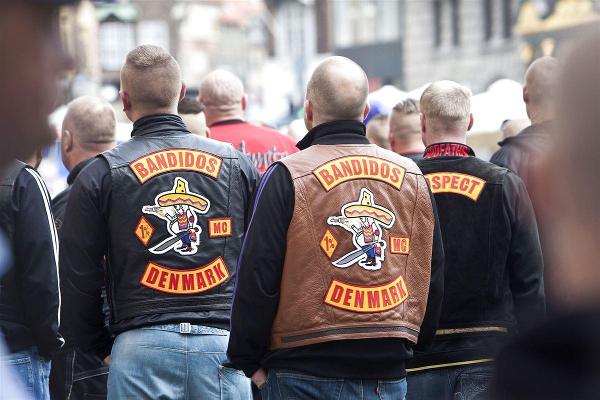 Rockere med rygmærker Bandidos