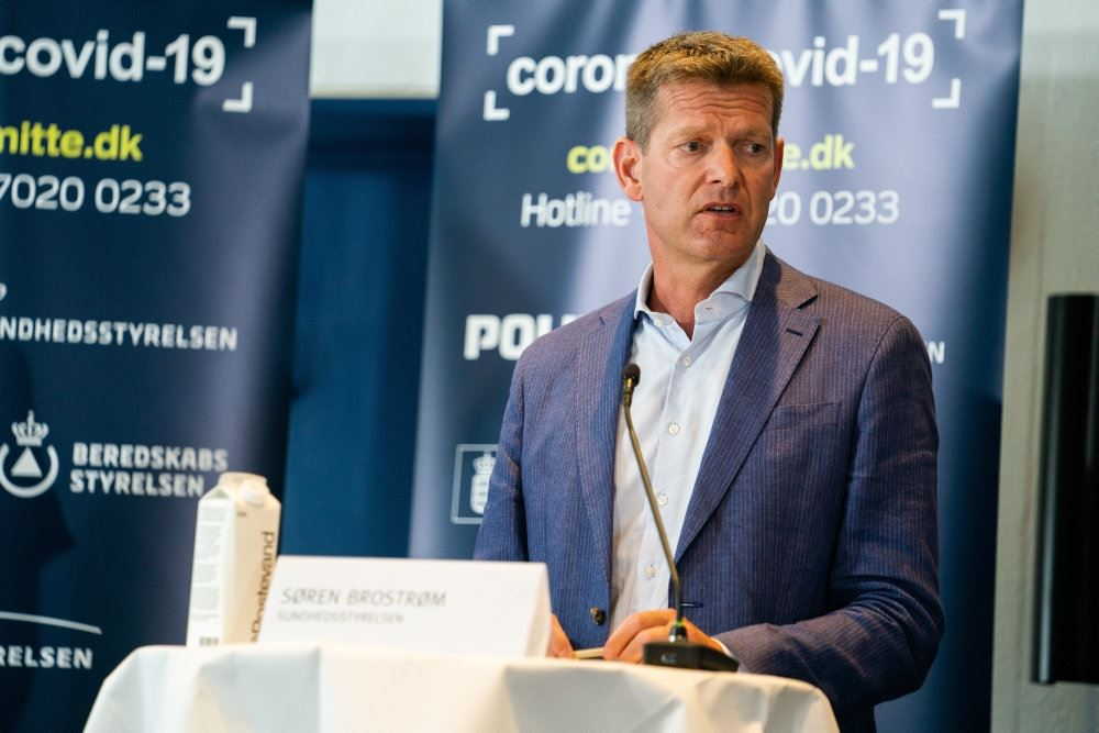 Søren Brostrøm på pressemøde