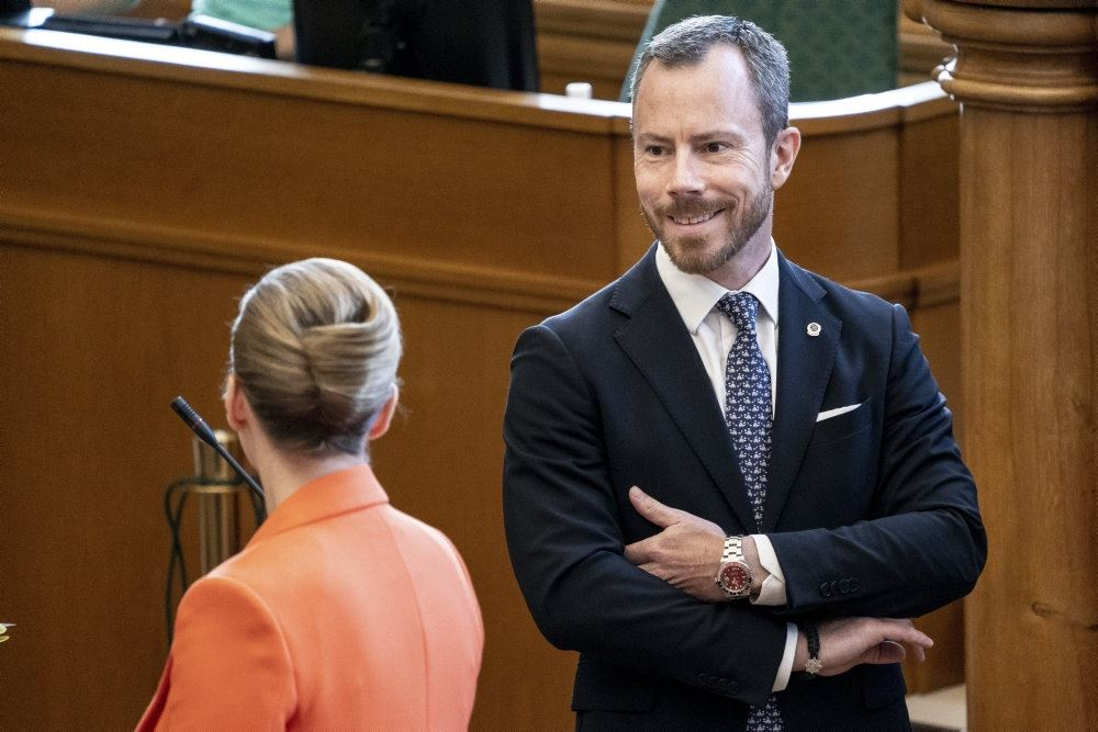 Venstres formand Jakob Ellemann Jensen i folketingssalen