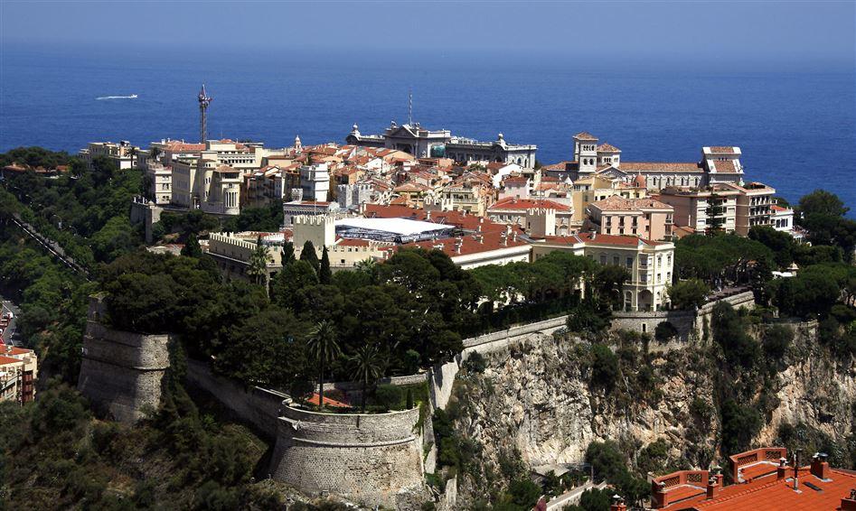 Et luffoto af fyrstedømmet Monaco