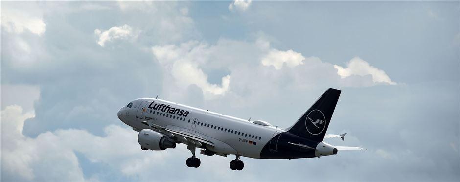 Billede af Lufthansa jet der letter