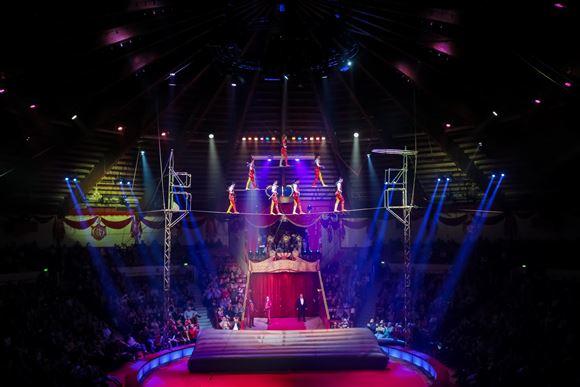 Billede fra forestilling i Cirkus Arena