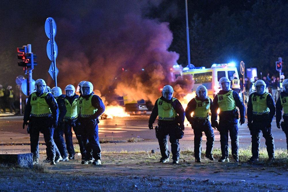 Politi ved Rosengården i Malmø