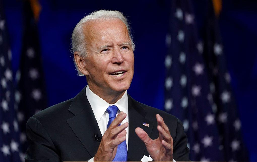 Joe Biden taler