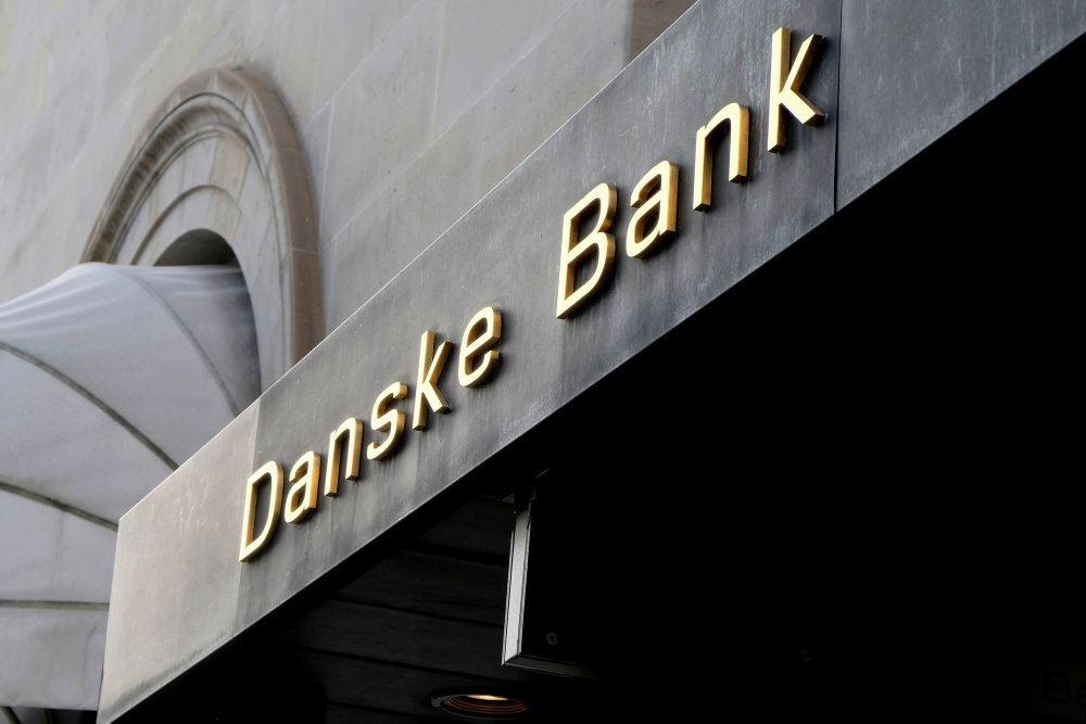 Billede af en facade med Danske Banks logo