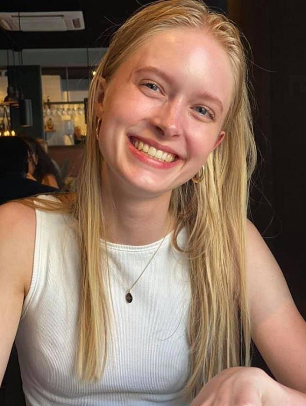 Portræt af den 21-årige 21-årige Sofie Hauge Kyneb, som har været forsvundet siden onsdag morgen