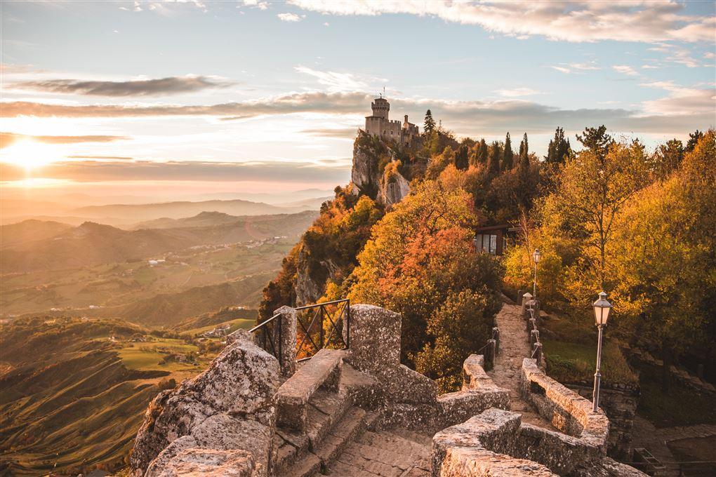billede af borgen La Guaita i San Marino