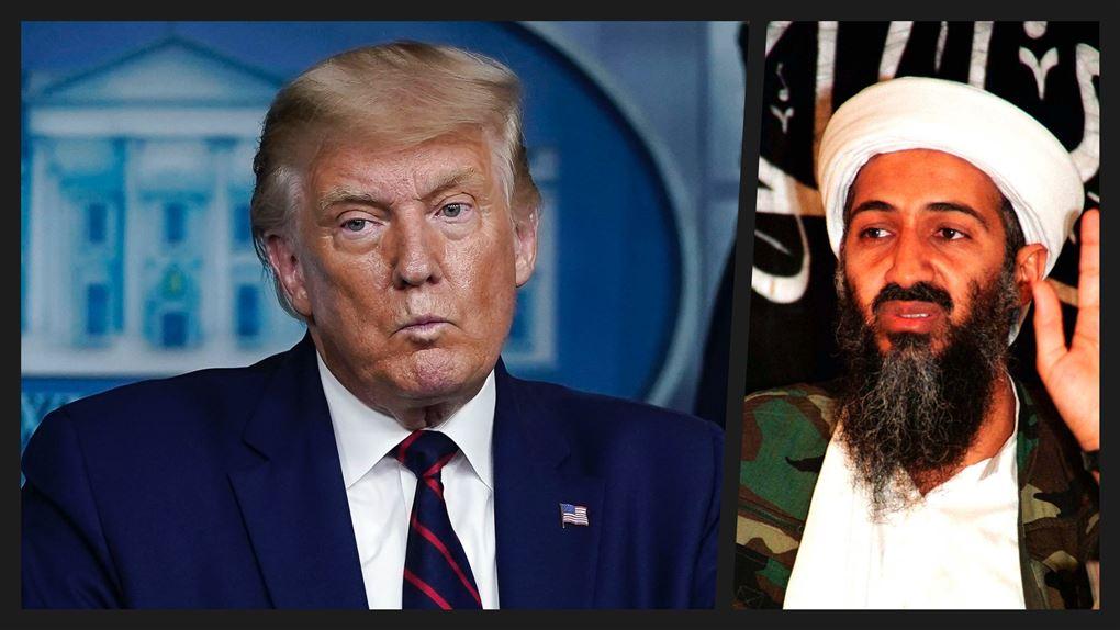 Donald Trump til pressemøde og Osama Bin Laden