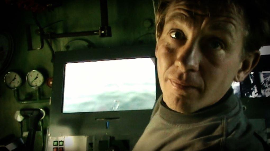 Peter Madsen fotograferet i ubåden