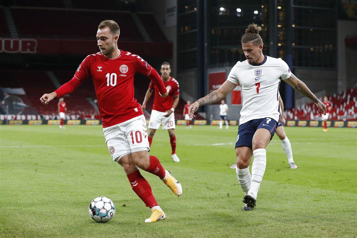Fodboldspilleren Christian Eriksen i kamp mod England