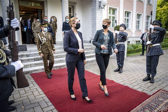 Mette Frederiksen og Kersti Kaljulaid
