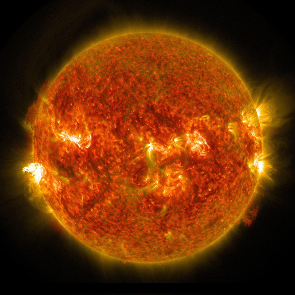 Nærbillede af solen