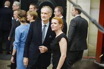 Bertel Haarder og Inger Støjberg står sammen foran Amalienborg i 2015