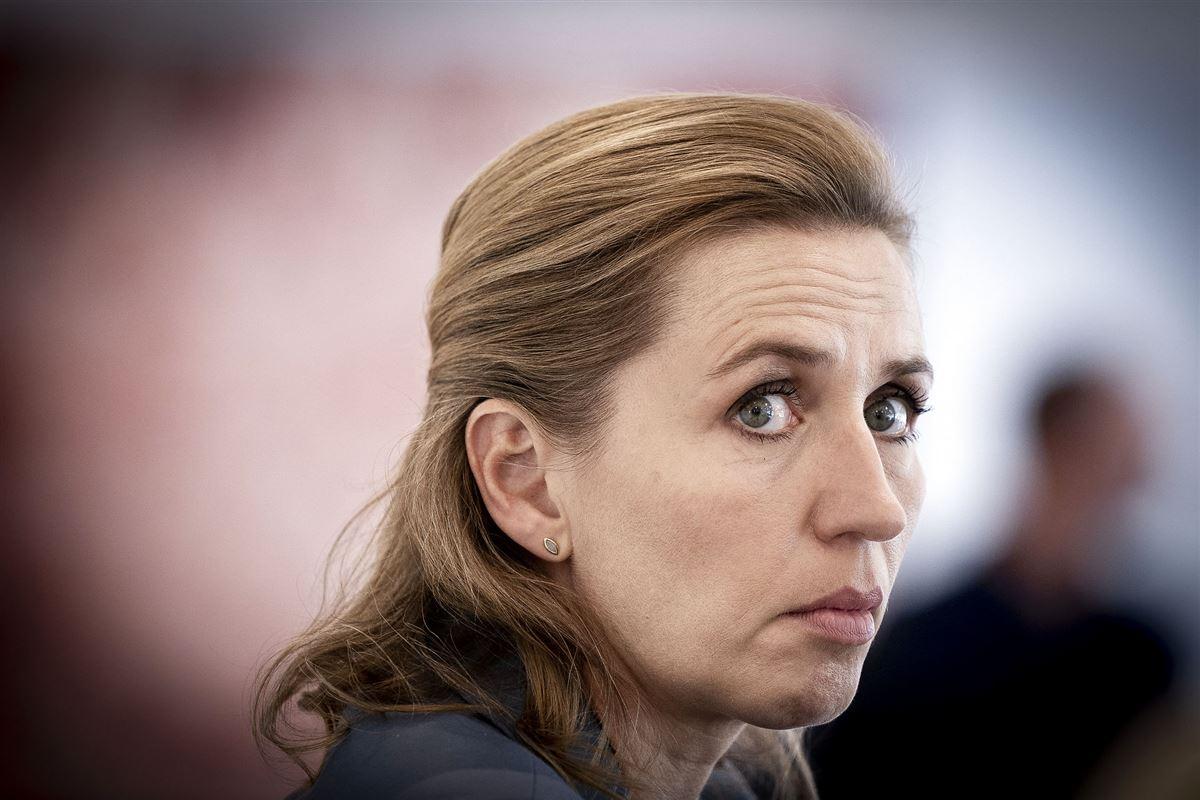 Statsminister Mette Frederiksen ser misfornøjet ud