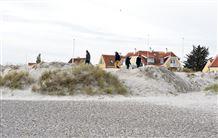 Billede af klitten som jævnet i Skagen