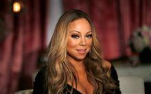 nærbillede af sangeren Mariah Carey hun har dramatisk makeup på og håret er krøllet på Hollywood-maner i spidserne