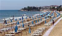 Mennesketom strand i tyrkiet