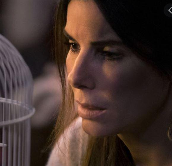 Sandra Bullock kigger på et fuglebur