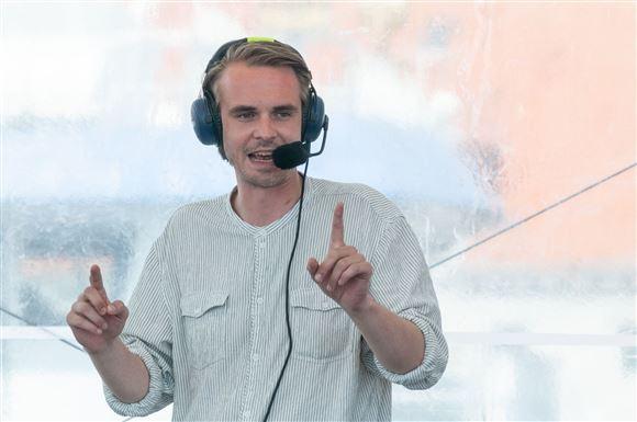 Mads Aagaard Danielsen på Folkemødet.