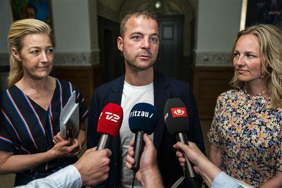 Sofie Carsten Nielsen, Morten Østergaard og Ida Auken.