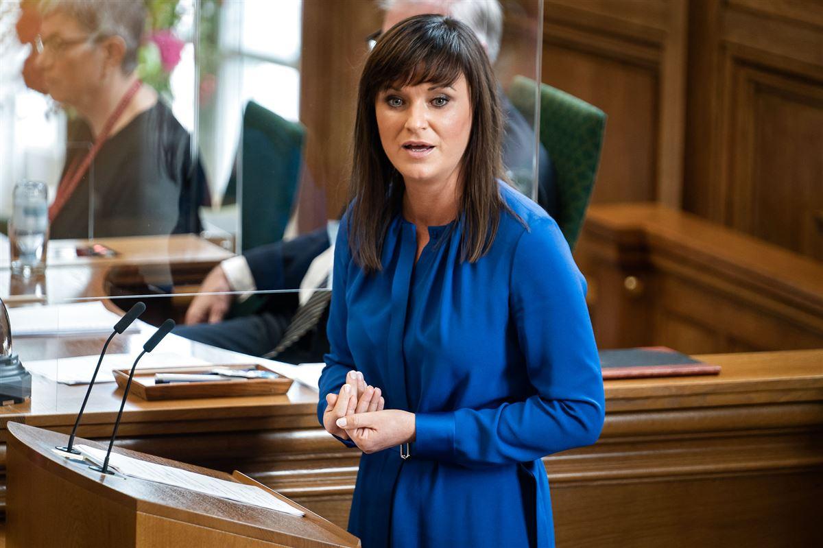 Sophie Løhde på Folketingets talerstol