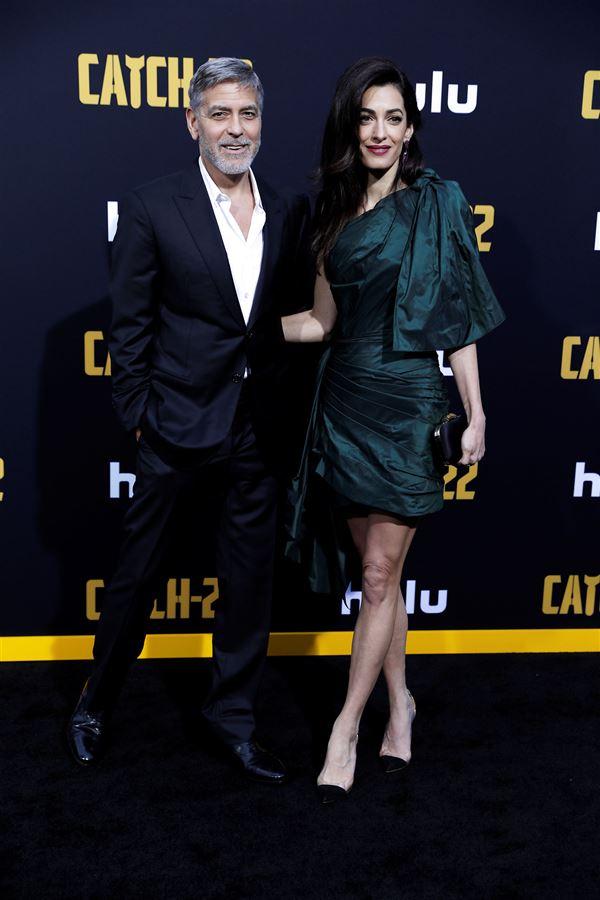 George Cloonet med fru Amal