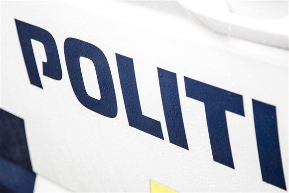 Nærbillede af politibil