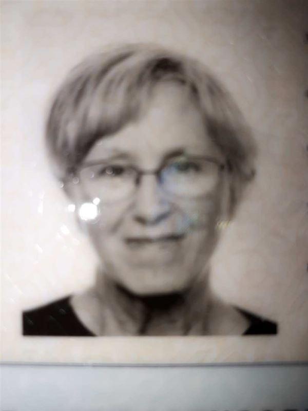 Pasfoto i sort/hvid af den forsvundne kvinde Jytte Rasmussen