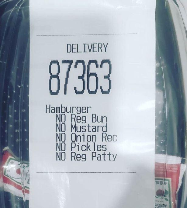 Kvittering fra McDonalds