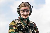 Belgiens Prinsesse Elisabeth i militærtøj