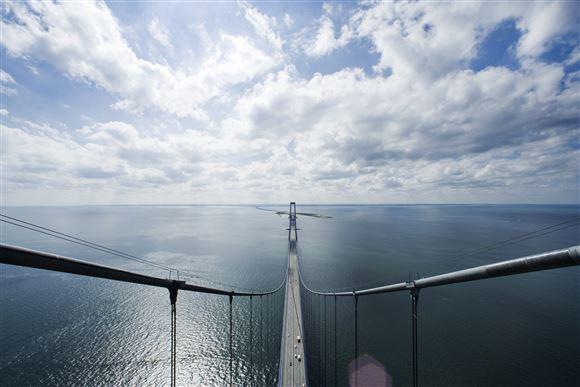 storebæltsbroen set oppe fra