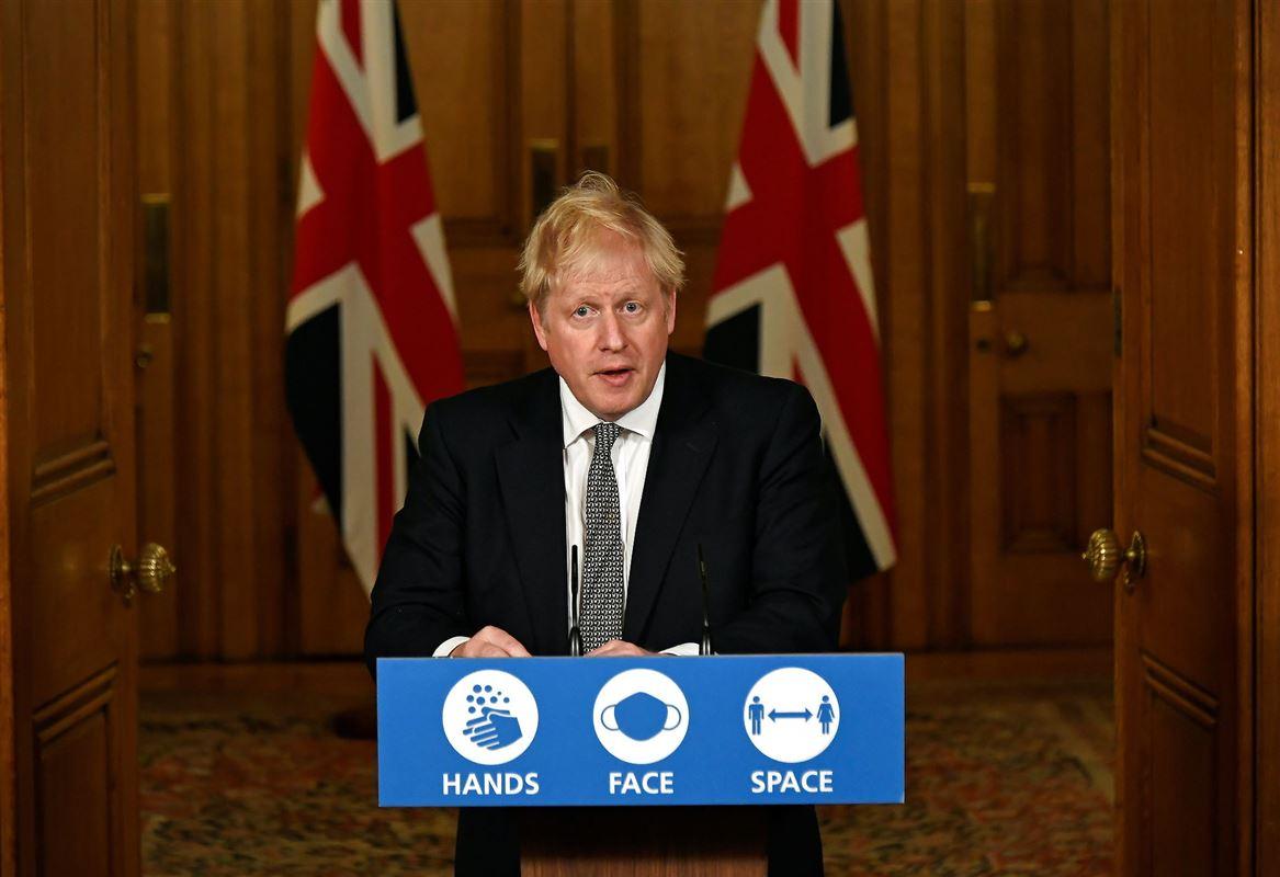 Boris Johnson på talerstol