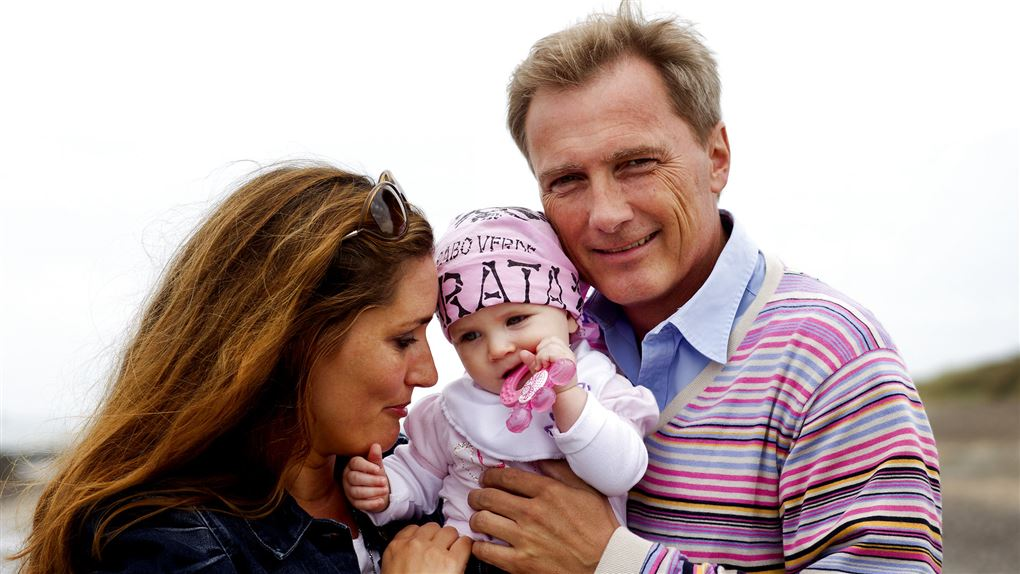 Peter Qvortrup Geisling med datter og ekskæreste