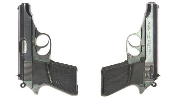 Pistol set fra begge sider