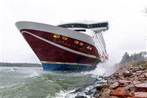 Skib gået på grund