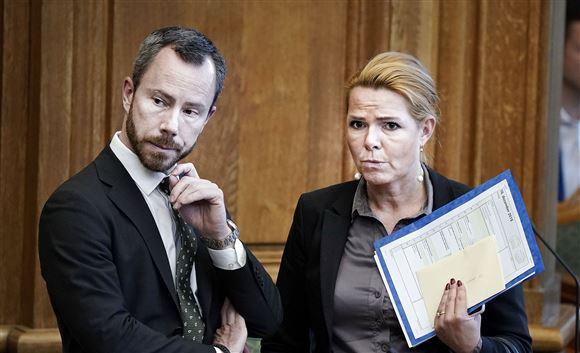 Jakob Ellemann og Inger Støjberg i samtale