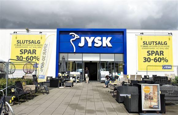 Indgang til Jysk-butik