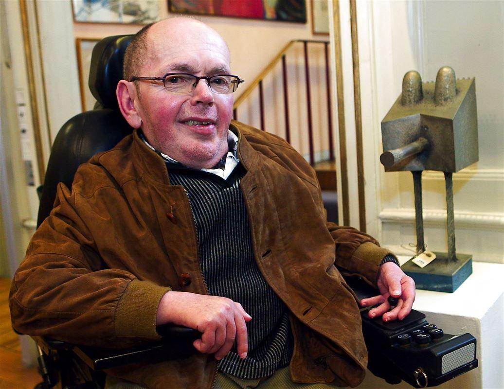 Evand Krog i kørestol.